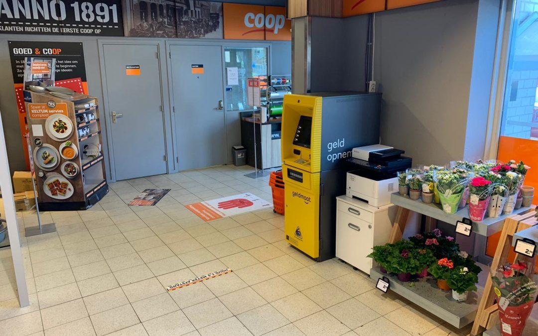 Mistgenerator beschermt geldmaat automaat