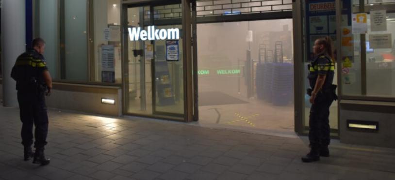 Mistgeneratoren gaan af in Supermarkt Nijmegen: pand vol rook