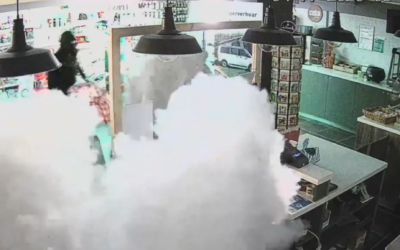 Inbrekers verrast door mistgenerator tankstation
